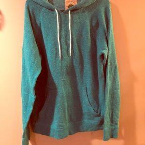 Sweaters - Turquoise Pullover Sweatshirt